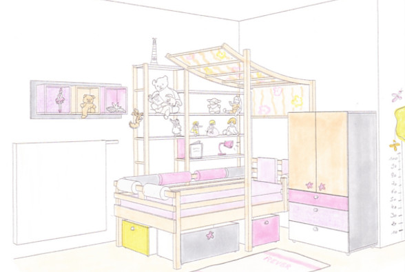 Premier projet : la chambre de Serena