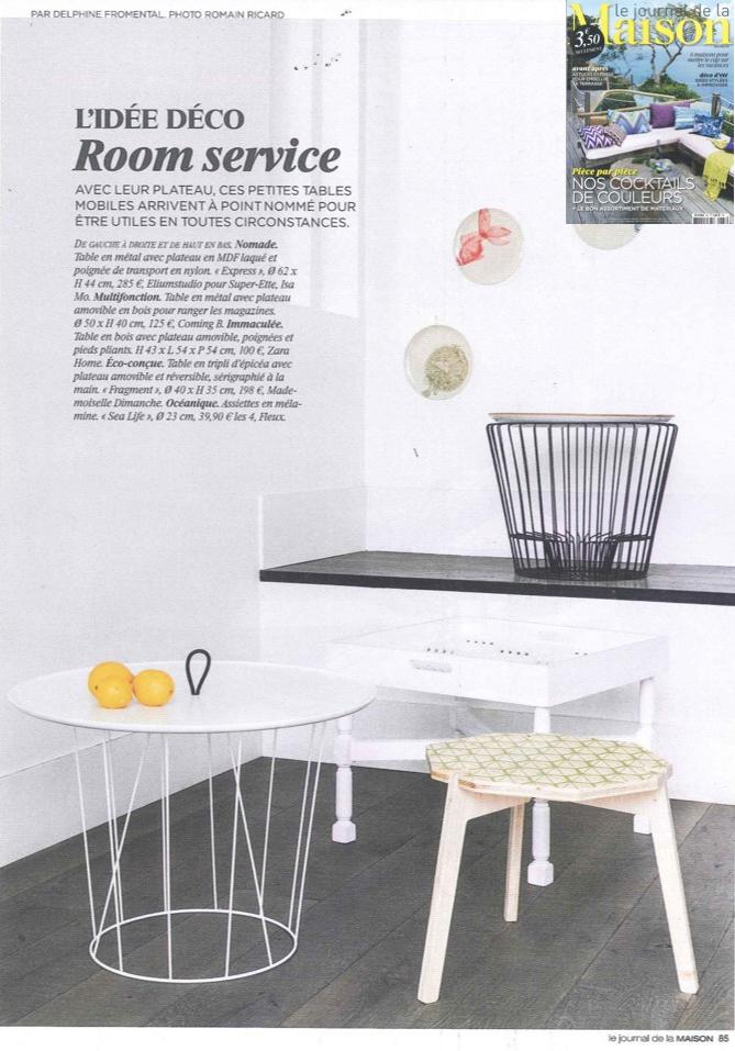"""""""Nomade"""" dans Le Journal de la Maison de Juin 2014"""
